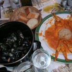 Mussels and frogs legs in Paris