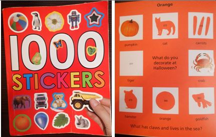 Brilliant sticker book by Priddy Books