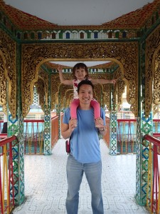 Tali and Andrew at the Botataung Pagoda