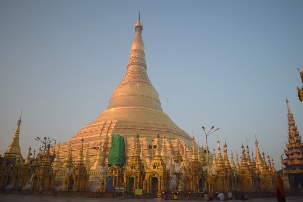 The stupa in the morning haze