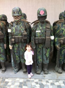Tali having fun with soldiers