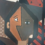 Cubist inspired self-portraits