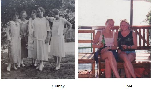 Ladies ready to party - 73 years apart