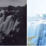 Victoria falls in 1925 and 1998 - little has changed in the falls themselves.