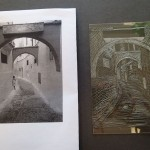 The finished plate next to the original image.
