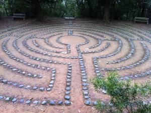 Walking meditation labyrinth