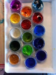 Gorgeous iridescent paints