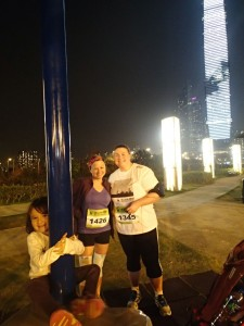 Pre set off WWF Run for Change 6km in Hong Kong. The run coincided with Earth Hour