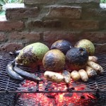 Breadfruit on the grill