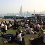 Main stage and seating at Clockenflap.