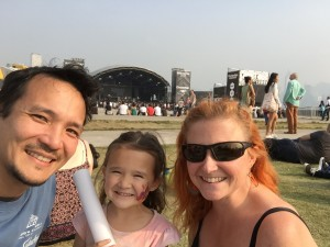 Happy Family at the music fest!